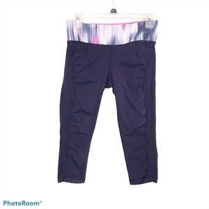 Lululemon cropped navy Milky Way leggings